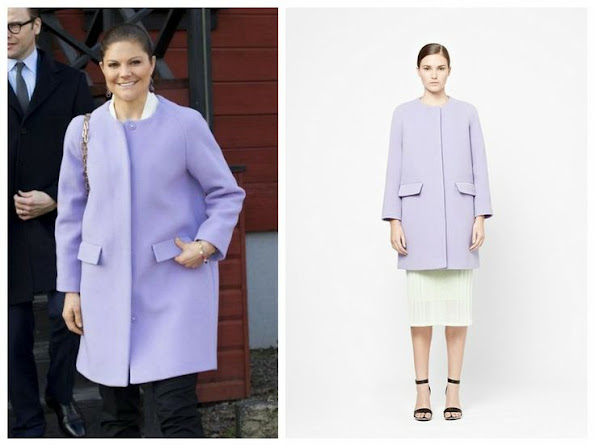 COS is a fashion brand for women and men and considered design. Crown Princess Victoria wore COS wool and cashmere coat