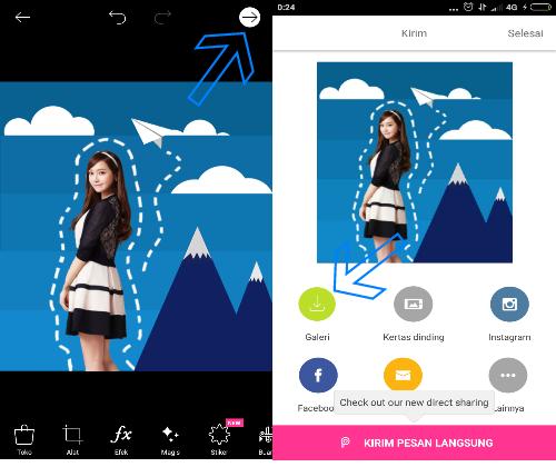 Tutorial Picsart : Cara Edit Foto Scrapbook 3D di Android
