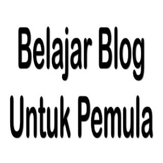 Belajar blog untuk pemula