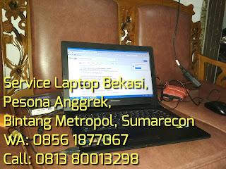 Servicd laptop bekasi, sumarecon, pesona anggrek, bintang metropol
