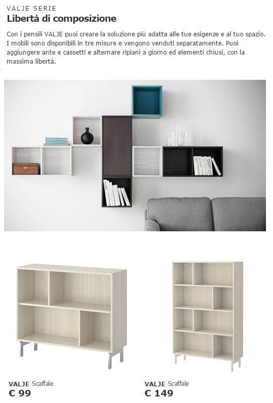 Libreria A Giorno Ikea Amazing Mobili Con Scaffali Ikea With