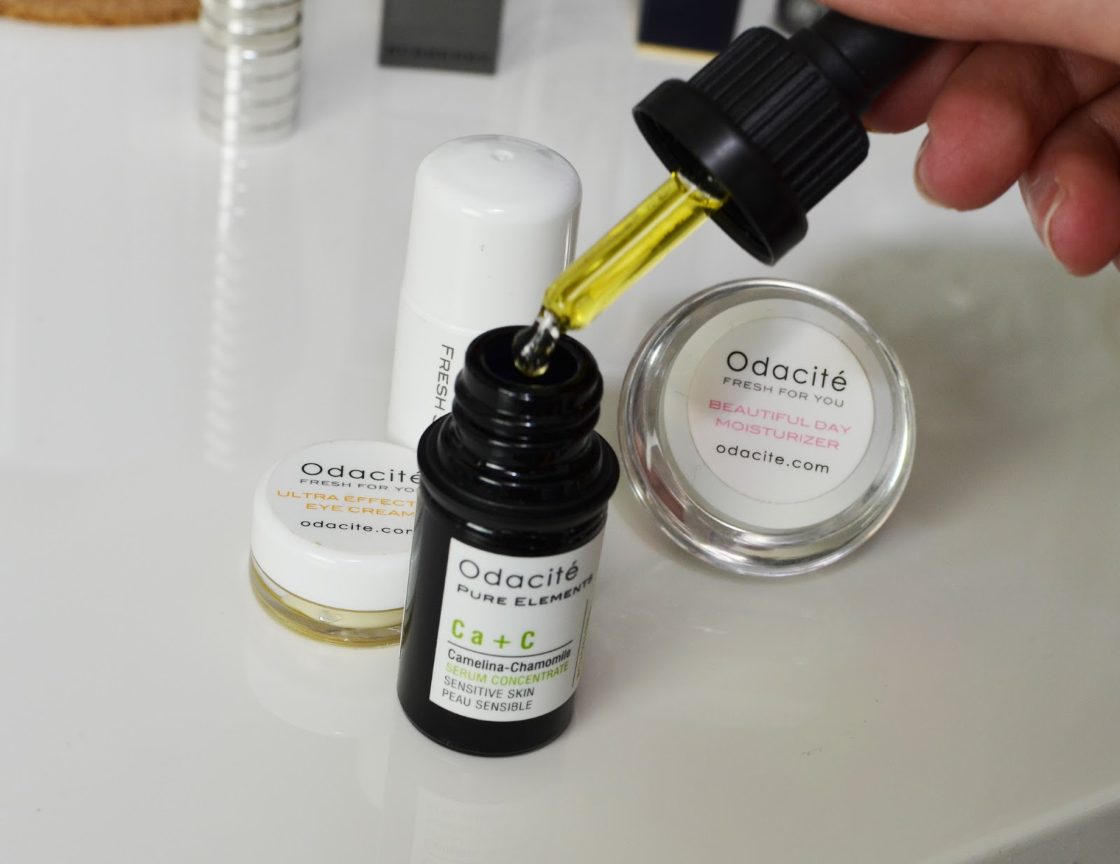Odacité's Camelina-Chamomile Serum Concentrate for Sensitive Skin.