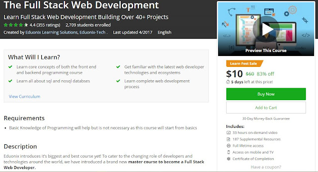 [#Udemy Bestselling] The Full Stack #Web_Development ...