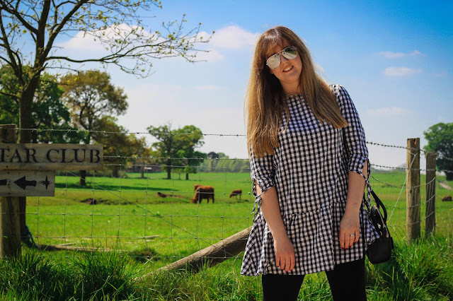 New Look gingham smock dress