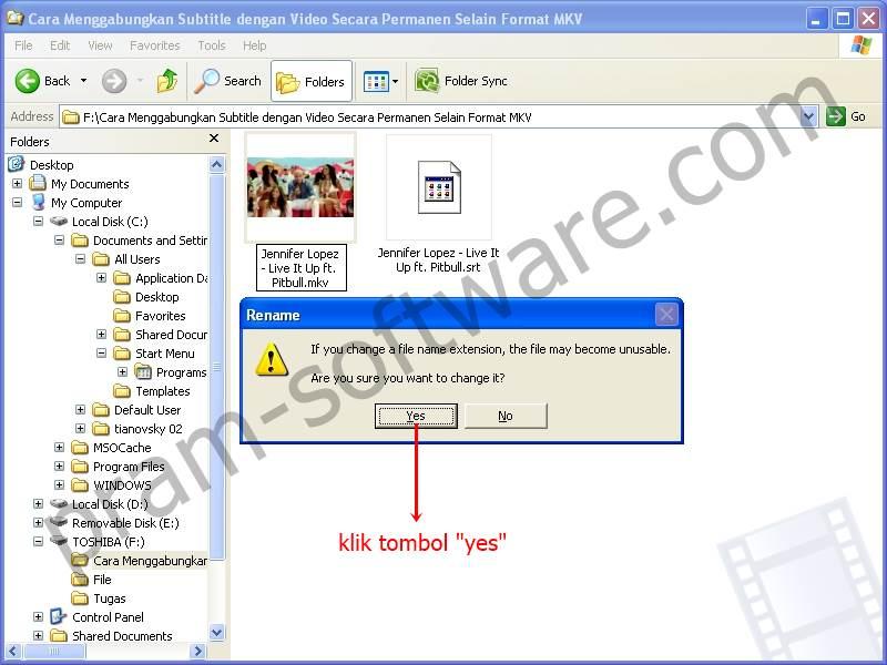 Warning Popup di Windows XP