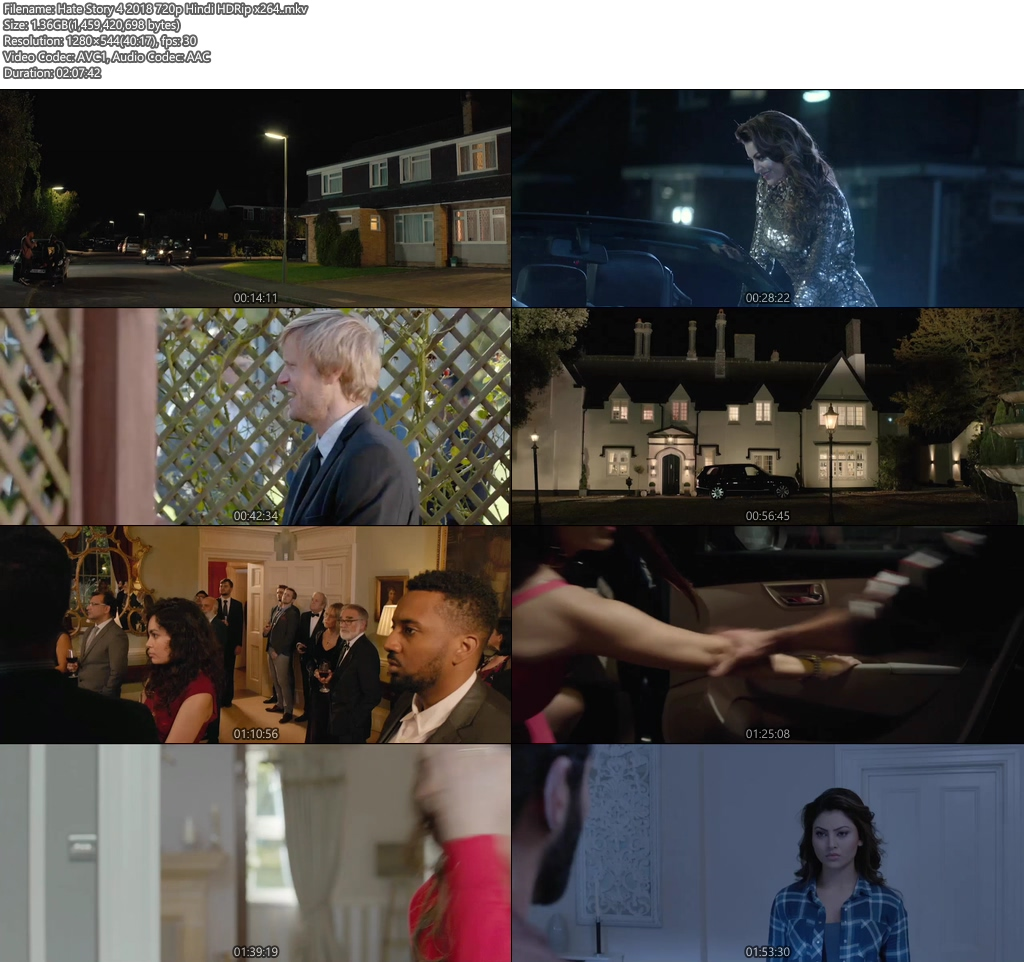 Hate Story 4 2018 720p Hindi HDRip x264 | 480p 400MB | 200MB HEVC Screenshot