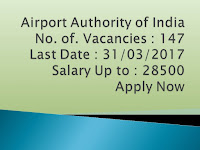 Airports Authority of India Job for Junior Assistant in Fire Service