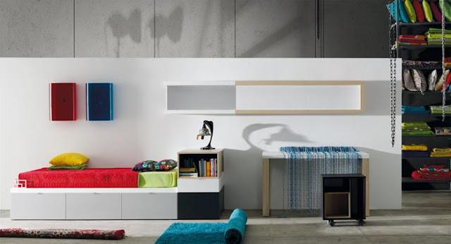 habitacion con cama kubox