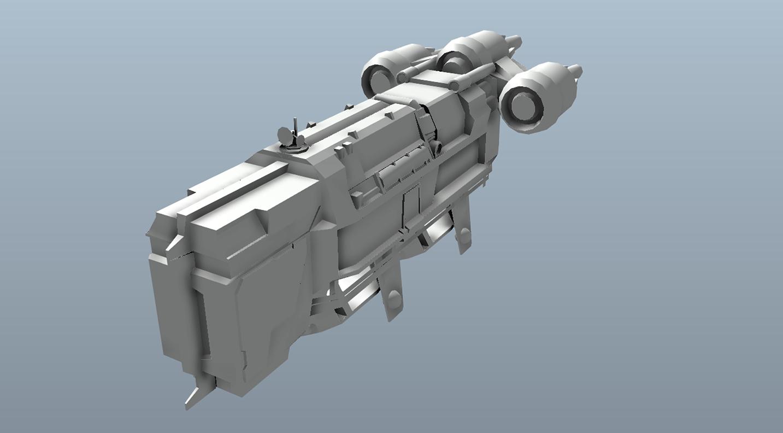 Big Star Wars OBJ Giveaway - Dropship 3d model