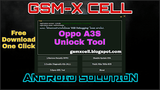 Oppo A3S All Security Unlock Tool 100% Working