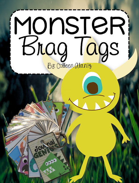 https://www.teacherspayteachers.com/Product/Brag-Tags-Monster-Theme-2601626