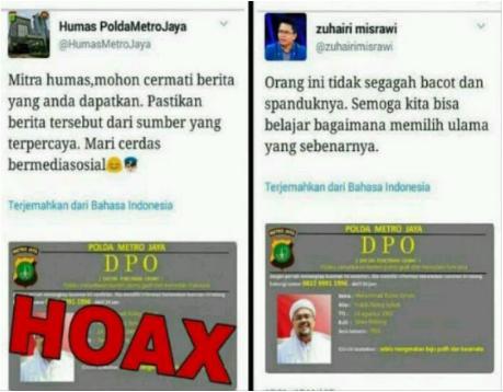 Aktivis Liberal Zuhairi Misrawi Sebarkan Hoax tentang DPO Habib Rizieq