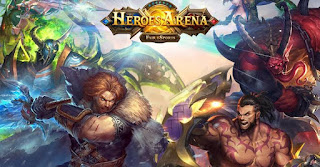 Game android heroes arena juga salah satu game terbaik android dengan kategori moba