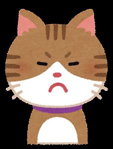 いろいろな表情の猫のイラスト「怒り顔」