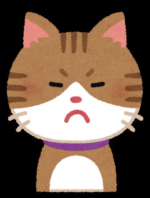 いろいろな表情の猫のイラスト笑顔怒り顔泣き顔笑い顔