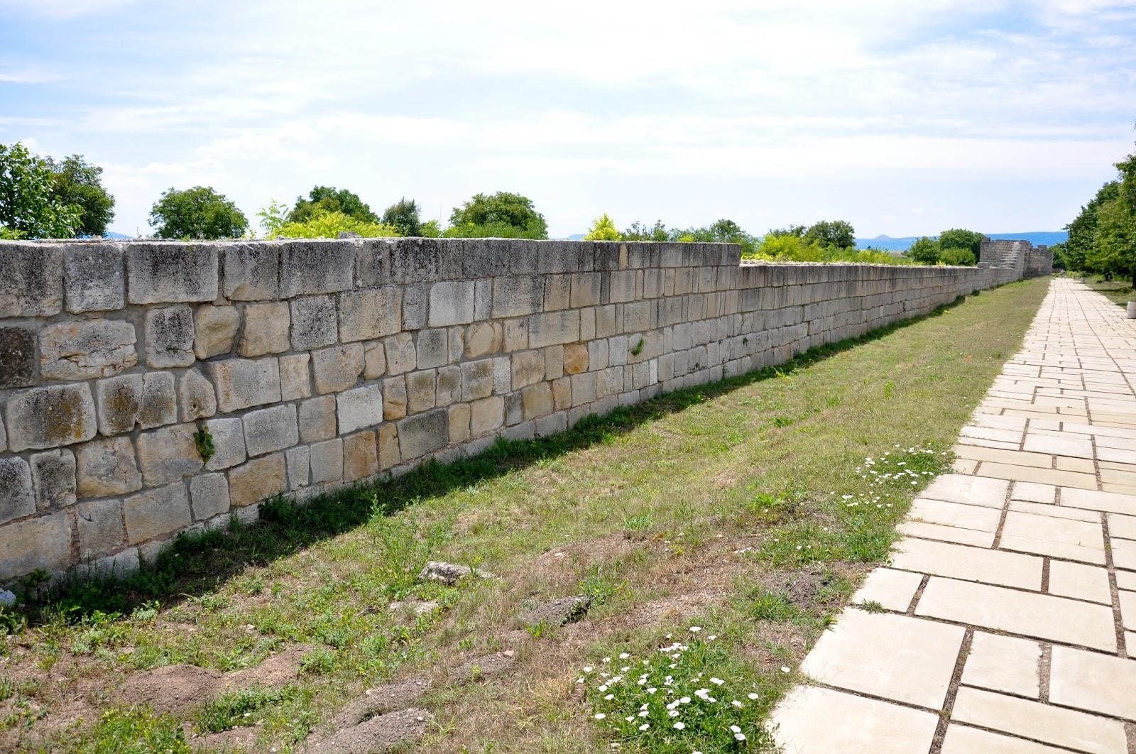 The wall, Pliska, Bulgaria