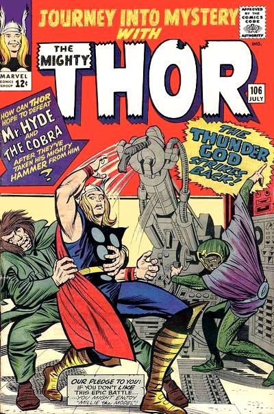 Journey Into Mystery #106, Thor vs Mr Hyde and the Cobra
