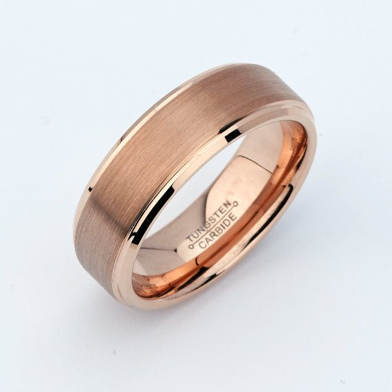 Mens Rose Gold Wedding Rings