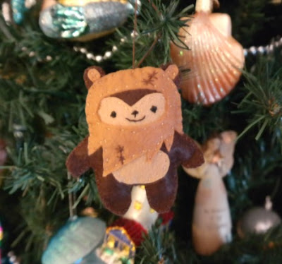 Star Wars EWOK Christmas Ornament from Felt