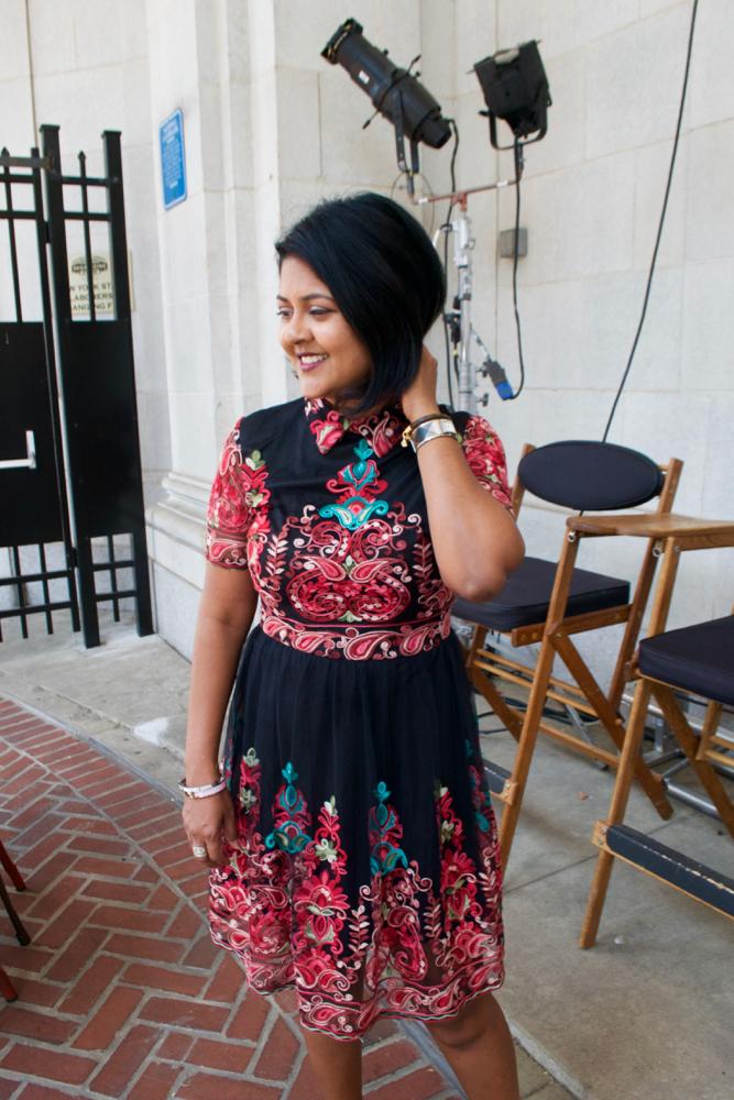 Embroidered Dress SheIn