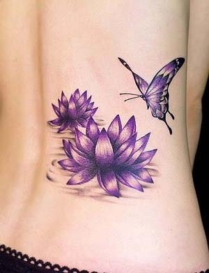Foto Tattoo Design Butterfly Kupu Di Tubuh Wanita 32