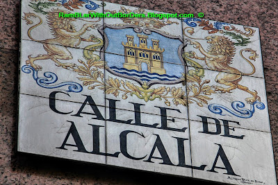 Street sign, Calle de Alcala, Madrid, Spain