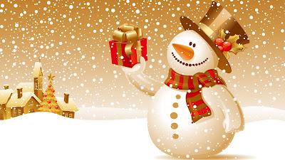 Sneeuwpop in de sneeuw