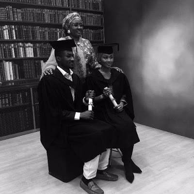buhari children graduate uk university