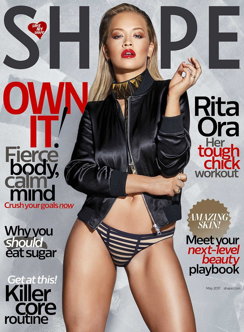 Rita Ora flaunts athletic physique for Shape Magazine May 2017