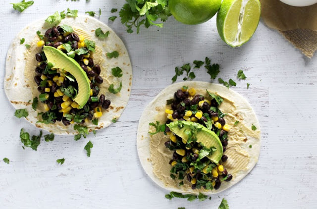 Cilantro-Lime Vegan Tacos #vegetarian #lunch