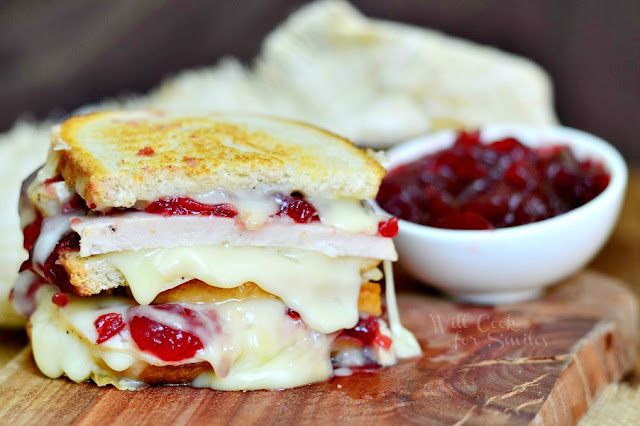 Turkey Cranberry Brie Grilled Cheese by Will Cook for Smiles