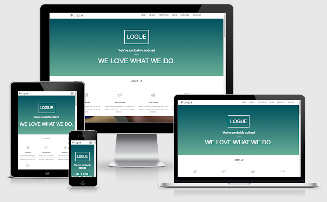 Logue - One Page Blogger Template