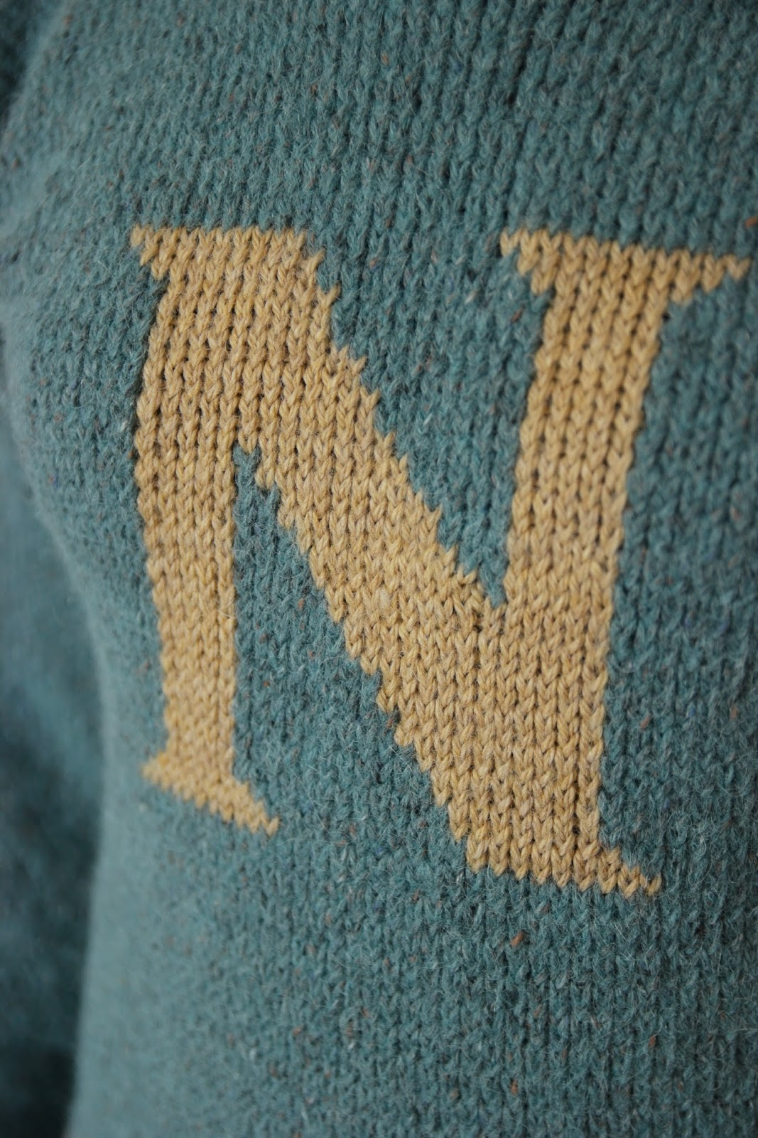 Tea & Possibilities: FO: The Weasley Jumper With An N