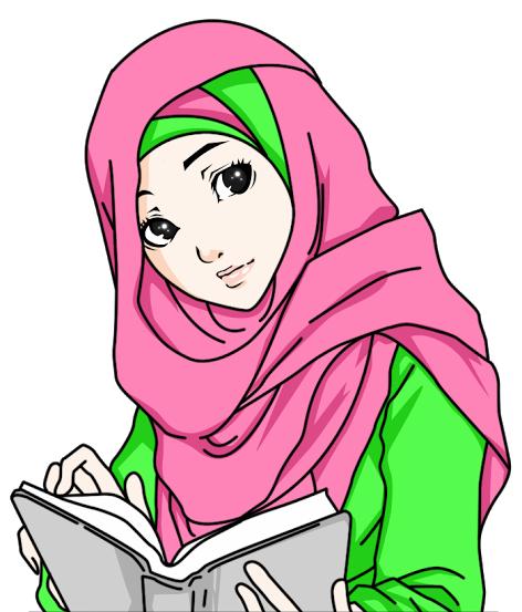 Kumpulan Gambar Animasi Wanita Muslimah Terbaru