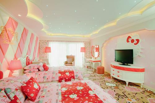 Kamar Tidur Hello Kitty Untuk Anak Anda Gambar Rumah Minimalis