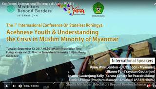 The 1st International Conference on Stateless Rohingya