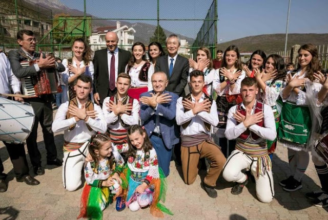 Japanese Government financing in reconstruction of elementary school in Tropoja