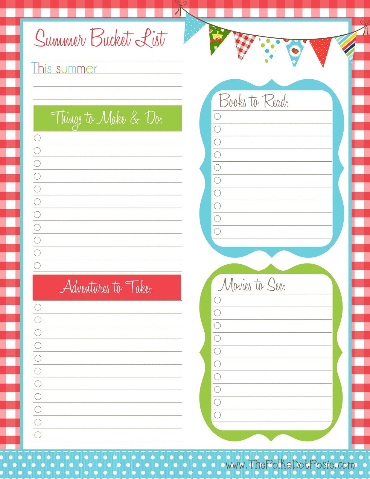 Bucket List Printable Template - WallsKid