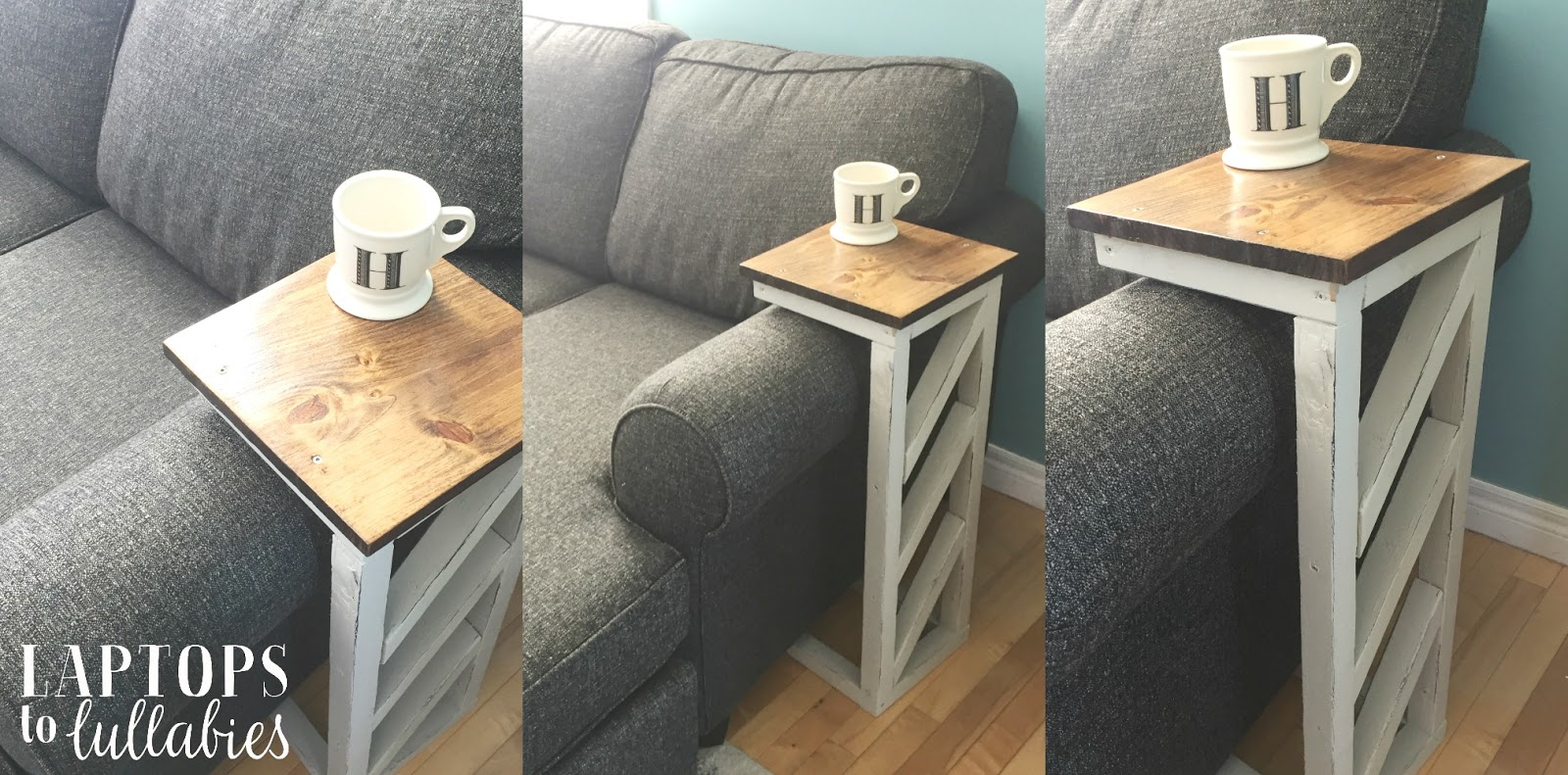 Contemporary easy diy sofa table with 2 boards and columnswhoever easy diy sofa table geotapseo Gallery
