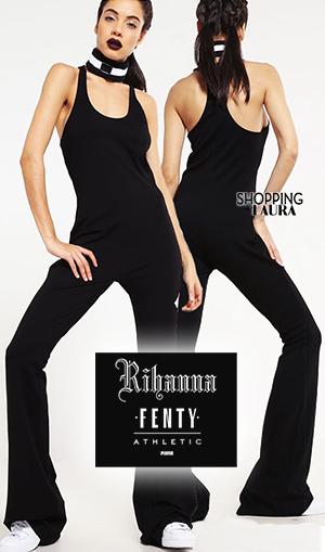 Combinaison pantalon femme noire Fenty Puma
