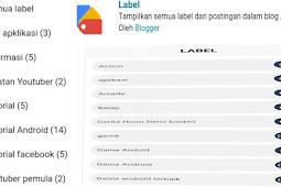 Cara Membuat Label Atau Kategori di Blog Lengkap