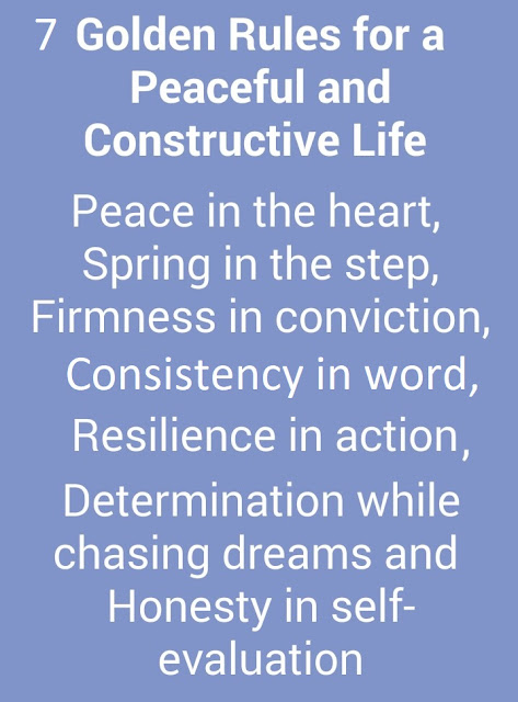 Seven Golden Rules For A Peaceful And Constructive Life Quote Life Custom 7 Rules Of Life Quote
