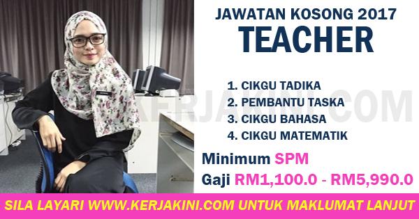 jawatan kosong 2017 teacher