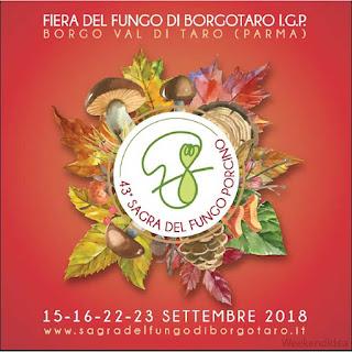 Fiera del fungo di Borgotaro IGP dal 15 al 23 settembre Borgotaro (PR)