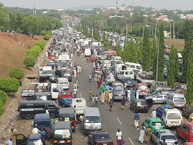 Central Business District, Abuja was on lockdown this past weekend as members of the Tijaniyya Islamic sect trooped out in their numbers to celebrate their leader