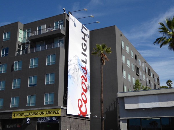 Coors Light August 2015 billboard