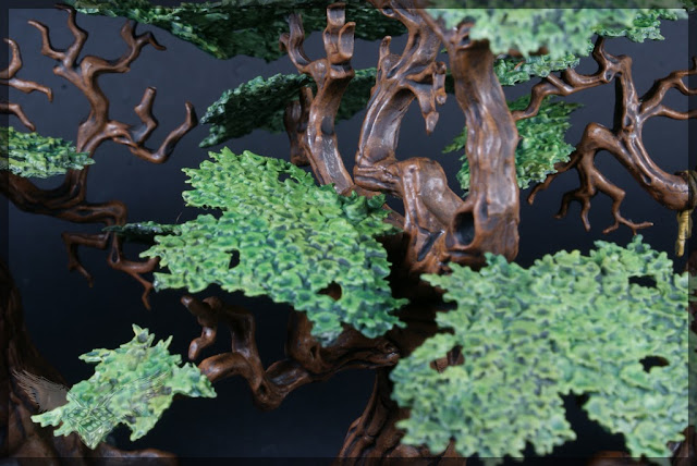 warhammer age of sigmar sylvaneth wyldwood painted forest scenery miniatures close up