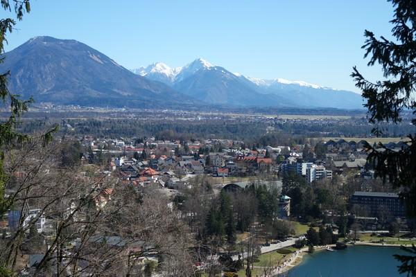 slovénie lac bled vue château