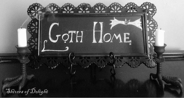 goth home decor, dark decor, gothic design