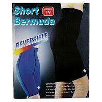 poza cu pantalonii care slabesc Short Bermuda cu efect de sauna